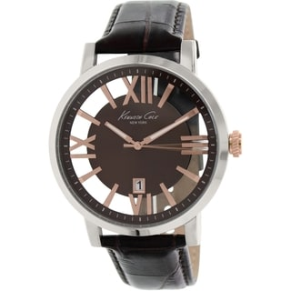 Kenneth Cole Men's KC8010 Brown Leather Quartz Watch