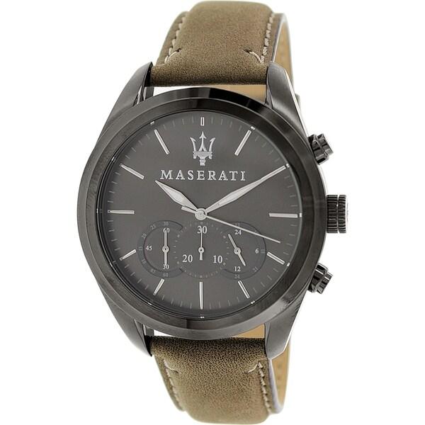 Maserati Men's Pole Position R8871612005 Antique Brown Leather Analog Quartz Watch