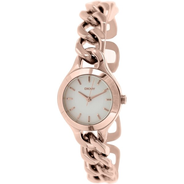 DKNY Women's Chambers NY2214 Rose Goldtone Stainless Steel Quartz Watch