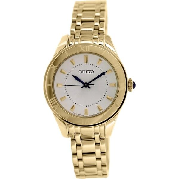 Seiko Women's SRZ434 Gold Stainless Steel Quartz Watch
