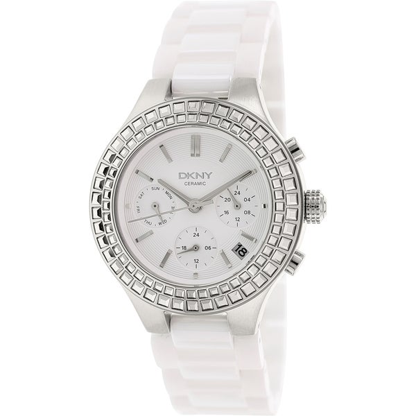 DKNY Women's Chambers NY2223 White Ceramic Quartz Watch