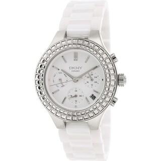 DKNY Women's Chambers NY2223 White Ceramic Quartz Watch