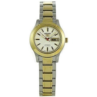 Seiko Women's 5 Automatic SYMD90K White Two-tone Stainless Steel Automatic Watch