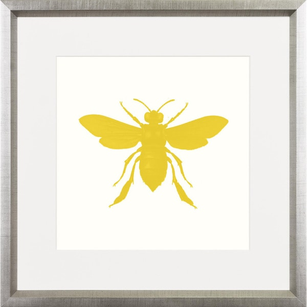 Yellow Bee Pop Framed Art Print