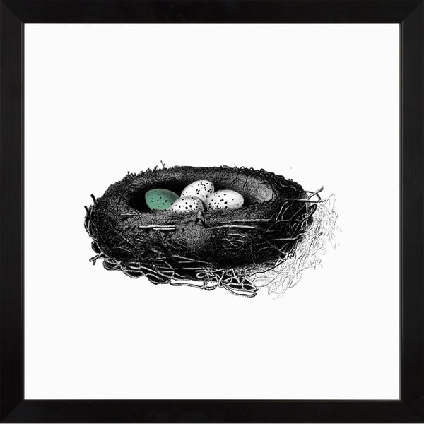 Nest Sketches Speckled Egg Framed Art Print