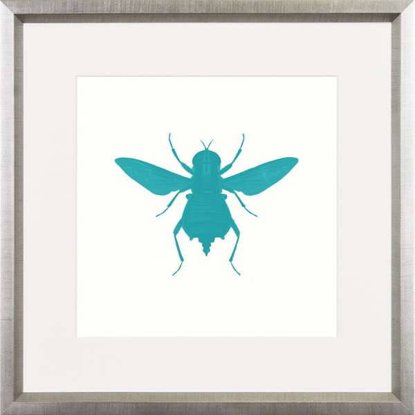 Turquoise Bee Pop Framed Art Print