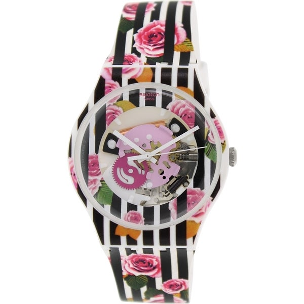 Swatch Women's Originals SUOW110 Multi Silicone Swiss Quartz Watch