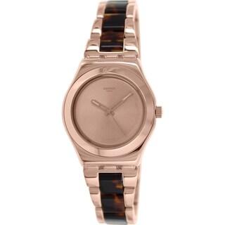 Swatch Women's Irony YLG128G Rose Gold Stainless Steel Swiss Quartz Watch