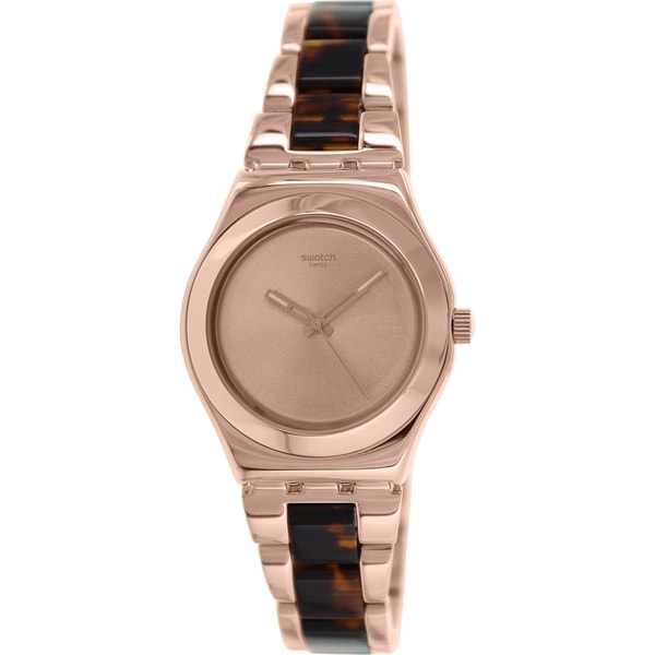 Swatch Women's Irony YLG128G Rose Gold Stainless Steel Swiss Quartz Watch