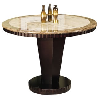 Corallo Marble Round Counter Height Dining Table