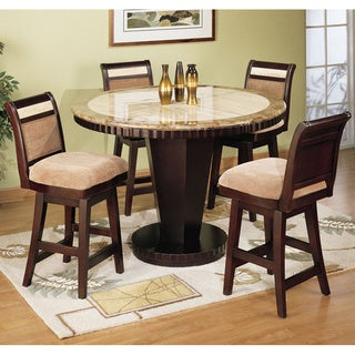 Corallo Marble Top 5-piece Counter Height Dining Set