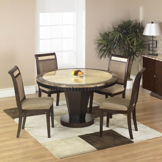 Corallo Marble Top 5-piece Dining Table Set