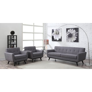 James Grey Linen Living Room Set