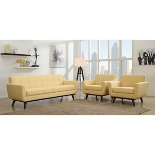 James Mustard Yellow Living Room Set