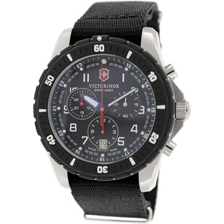 Victorinox Swiss Army Men's Maverick 241678.1 Black Cloth Swiss Quartz Watch