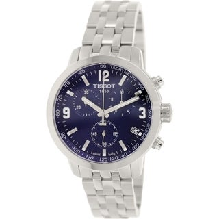 Tissot Men's Prc 200 T055.417.11.047.00 Silver Stainless-Steel Swiss Chronograph Watch