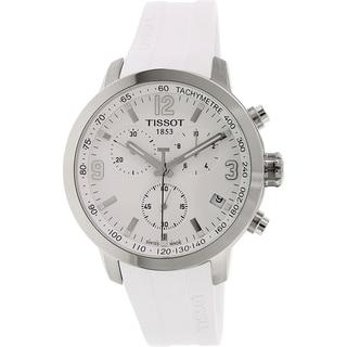 Tissot Men's Prc 200 T055.417.17.017.00 White Rubber Swiss Chronograph Watch