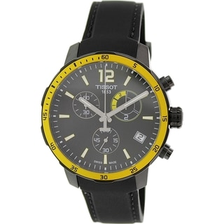 Tissot Men's Quickster T095.449.37.057.00 Black Silicone Swiss Quartz Watch