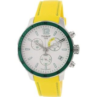 Tissot Men's Quickster T095.449.17.037.01 Yellow Rubber Swiss Quartz Watch