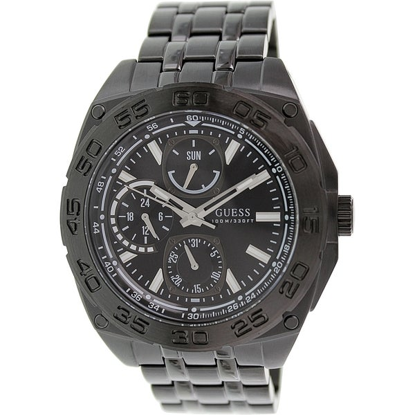 Guess Men's U0487G2 Black Stainless Steel Quartz Watch