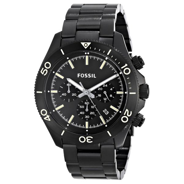 Fossil Men's Retro Traveller CH2915 Black Stainless Steel Quartz Watch