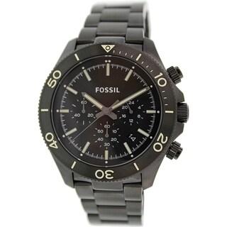 Fossil Men's Retro Traveller CH2915 Black Stainless Steel Quartz Watch