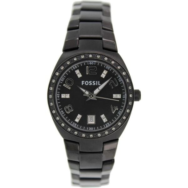 Fossil Women's Colleague ES3655 Black Stainless Steel Analog Quartz Watch