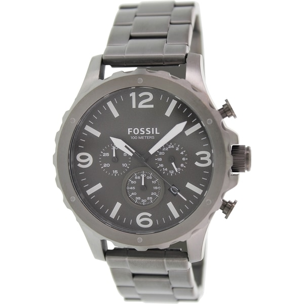 Fossil Men's Nate JR1469 Gunmetal Stainless Steel Quartz Watch