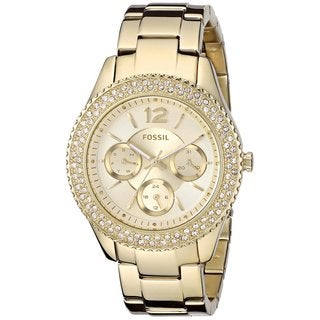 Fossil Women's Stella ES3589 Gold Stainless Steel Quartz Watch