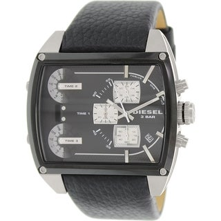 Diesel Men's Mothership DZ7326 Black Leather Quartz Watch