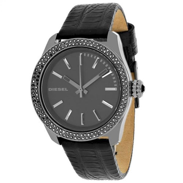 Diesel Women's Kray Kray DZ5436 Black Leather Quartz Watch