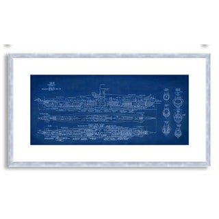 Gallery Direct St. John's 'Submarine Blueprint' Framed Paper Art