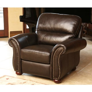 ABBYSON LIVING Monroe Top Grain Leather Armchair