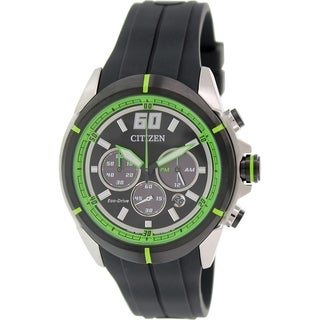Citizen Men's Eco-drive CA4104-05E Black Rubber Quartz Watch