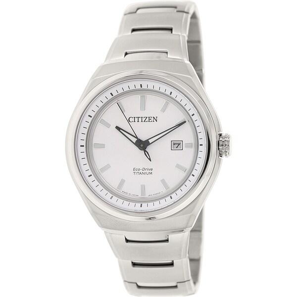 Citizen Men's AW1251-51A Silver Titanium Quartz Watch