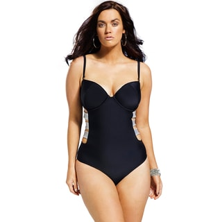 Swim Sexy Women's Plus Size Midnight Underwire Swimsuit