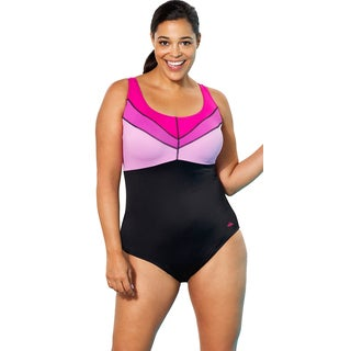 Aquabelle Iris Women's Plus Size Pink Swimsuit