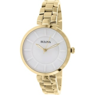 Bulova Women's Classic 97L142 Gold Stainless Steel Quartz Watch