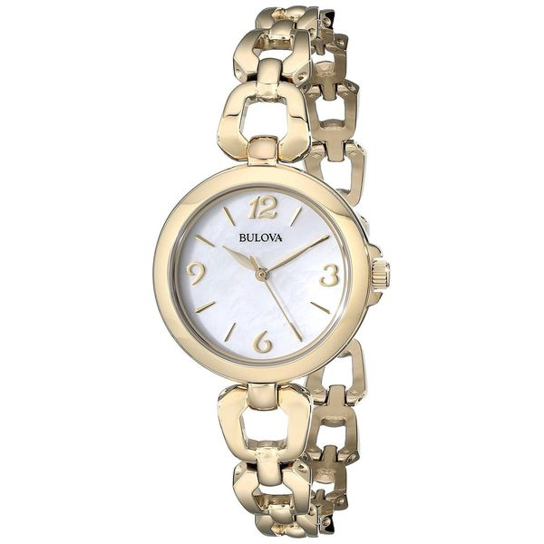 Bulova Women's 97L138 Gold Stainless Steel Quartz Watch