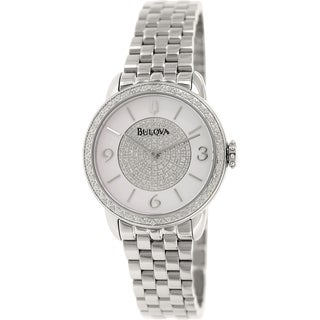 Bulova Women's Diamond 96R184 Stainless Steel Quartz Watch
