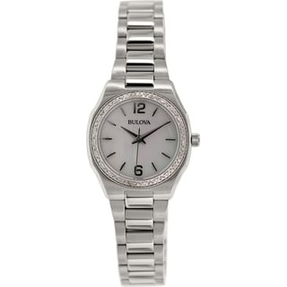 Bulova Women's Diamond 96R199 Stainless Steel Quartz Watch