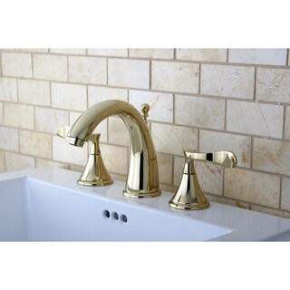 Modern Polished Brass Widespread Bathroom Faucet