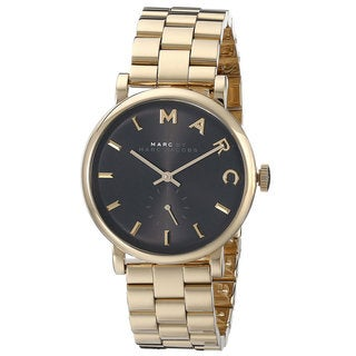 Marc Jacobs Women's MBM3355 Baker Black Goldtone Watch