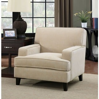 Furniture of America Varinne Modern Flannelette Chair