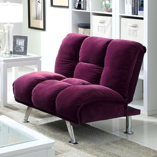 Furniture of America Maybeline Modern Flannelette Convertible Chair