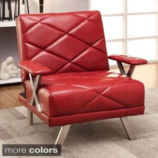 Furniture of America Kaymen Modern Upholstered Convertible Chair