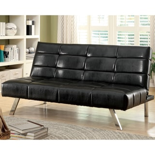 Furniture of America Thorin Modern Black Futon Sofa