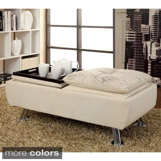 Furniture of America Aubreth Modern Storage Ottoman