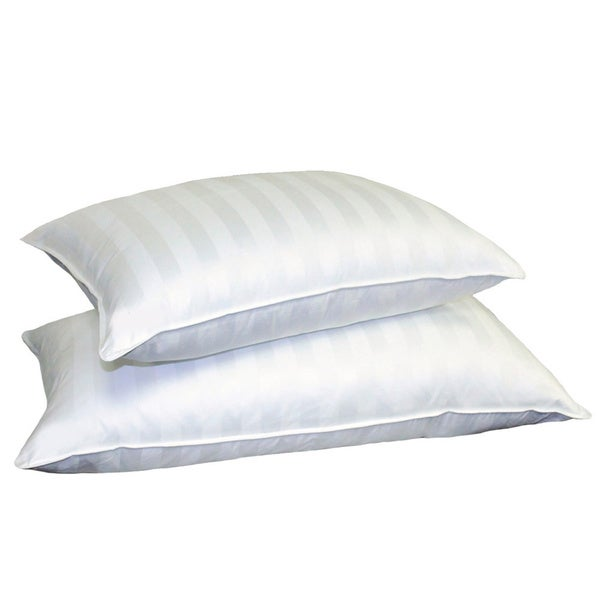Hotel Grand Siberian White Down 500 Thread Count Pillow in Size King (As Is Item)