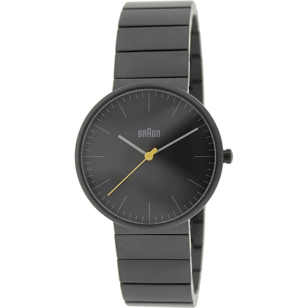 Braun Men's BN0171BKBKG Charcoal Grey Stainless Steel Quartz Watch